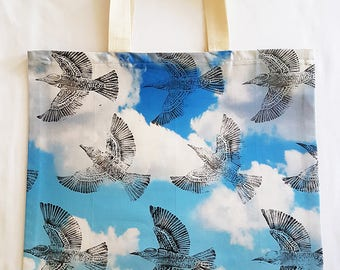 Bee-eater in the Clouds - Lino Print Tote