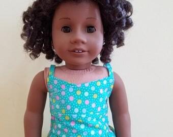 Polka dot sundress for 18 inch dolls