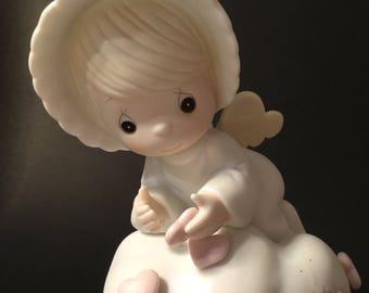Precious Moments Porcelain Bisque Figurine. Valentines Gift. Collectibles. Precious Moments.Enesco.