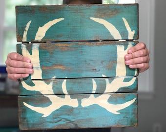 Teal Deer Antlers