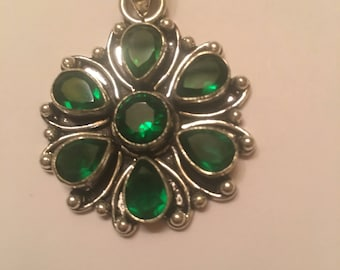 Beautiful Green Tourmaline Pendent