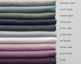 Softened Linen Napkins Set, Green Linen Napkins, Mitered Corners Linen Napkins, Pure Linen Napkin, Washed Linen Table, Stone Washed Linen