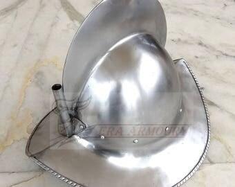Morion Steel Helmet Reenactment/LARP/Role Play e.t.c