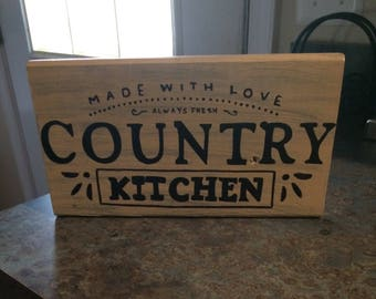 Country Kitchen, Country Kitchen Sign, Rustic Kitchen, Rustic, Baking Sign,  Moms