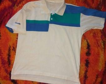 Vintage 80s Adidas polo shirt!!