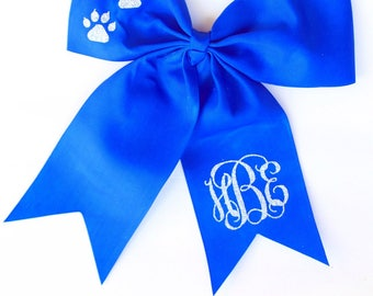 Monogrammed Cheerleading Bow