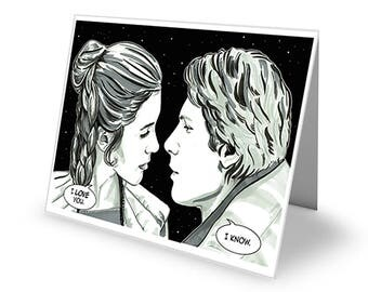 Dead All Over Star Wars 'Princess And Smuggler' Greetings Card with envelope C6 Size Valentine/Anniversary