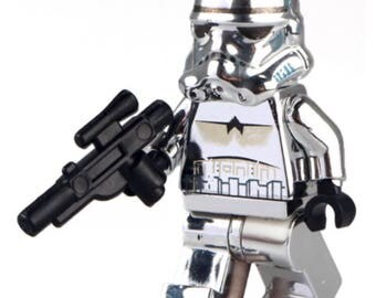 building block chrome storm trooper