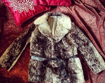 Vintage fur coat 1950s style