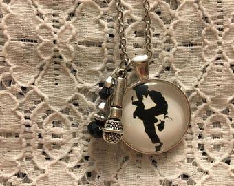 Michael Jackson Charm Necklace/Michael Jackson/Michael Jackson Jewelry/I Love Michael Jackson/Michael Jackson Pendant/Michael Jackson Fan