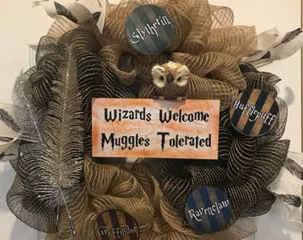 Harry Potter Themed Wreath