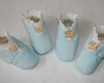 Baby Bootees or Pram Shoes - size 0 - 6 months