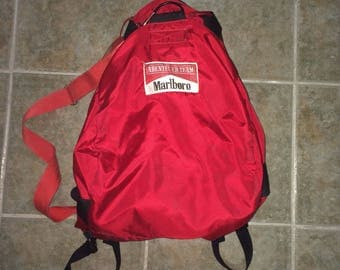 Vtg marlboro backpack/big duffel bag