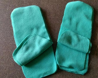 Set of 10 sails baby dry in turquoise microfleece for cloth diaper!