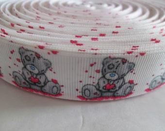bear 22 mm grosgrain Ribbon sold by the yard