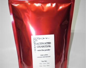 Activated Charcoal Powder - coconut shell - food grade - BUY2 get 1FREE - 10 oz - tooth whitener , digestive cleanser