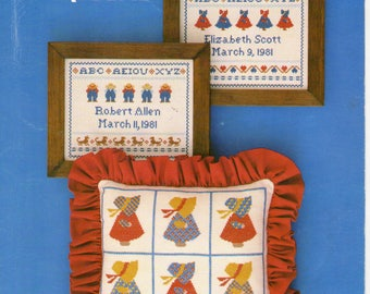 Sunbonnet Heirlooms Cross Stitch Book -The Heirloom Shop