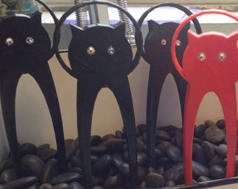 Cat Halo Hair Fork 3D Printed PLA