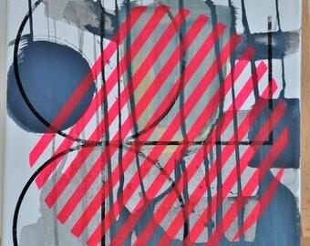 Abstract image/Abstract art/acrylic on canvas/painting/abstract painting/canvas/Minimalism/minimalism/silkscreen