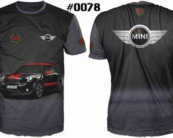 New ultramodern 3D  High Quality Mini Cooper  Long sleeve Men's T-shirt