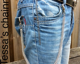 Wallet chain, 18gauge aluminum, chainmaille wallet chain, Full-Persian, belt chain, key chain, Tessa's chainmail
