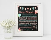 FRENCH Chalkboard sign thank you gift childhood care early educator babysitter daycare nursery childcare playgroud kindergarten DIGITAL FILE