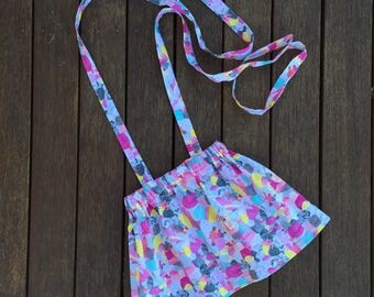 Custom Girls Pinafore - Baby Pinafore - Baby girls pinafore - pinnie - skirt - laura blythman fabric