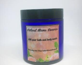 Sugar Scrub, sugar scrub, scented sugar scrub, exfoliating facial scrub, organic skincare, cocoa scrub, vegan scrub.
