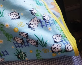 Child Toddler Reversible Flannel Pillow Case