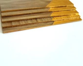 Thin wooden coaster (set of 5)