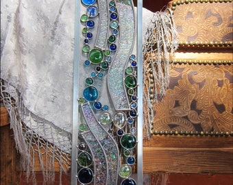 4th Chakra Sun-catcher - Stained Glass Panel  - Handmade to enhance your Fourth Chakra Balance