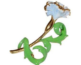 VINTAGE SPHINX - blue green flower brooch