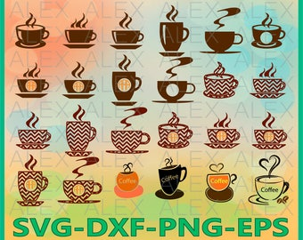 70% OFF, Coffee SVG Files, Coffee Monogram Svg Files, Silhouette Studio Files, Coffee Svg, Dxf, Png, Ai File, Instant Download