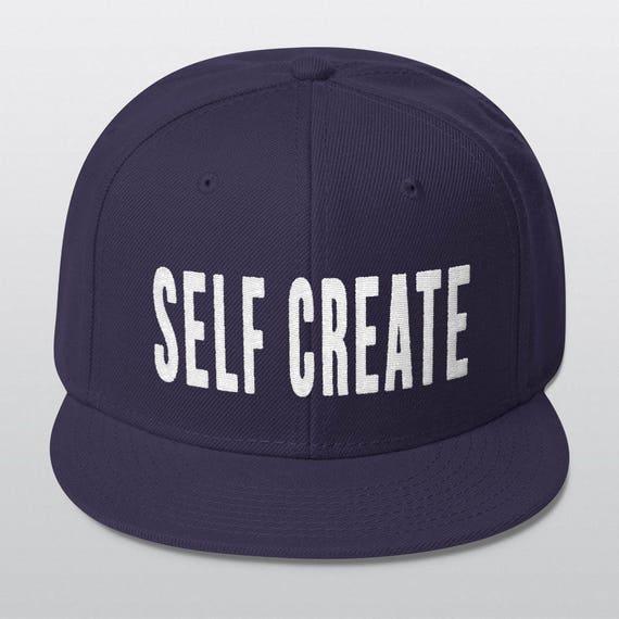 SELF CREATE | Wool Blend Snapback Cap | 6 Colors