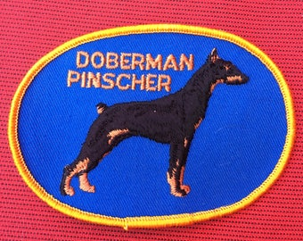Beautiful DOBERMAN Pinscher SHOW Dog PATCH Detailed Stitching L@@K