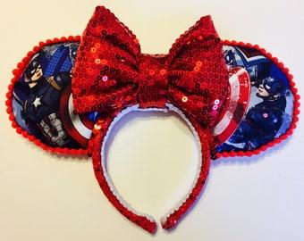 READY TO SHIP : Captain America ears