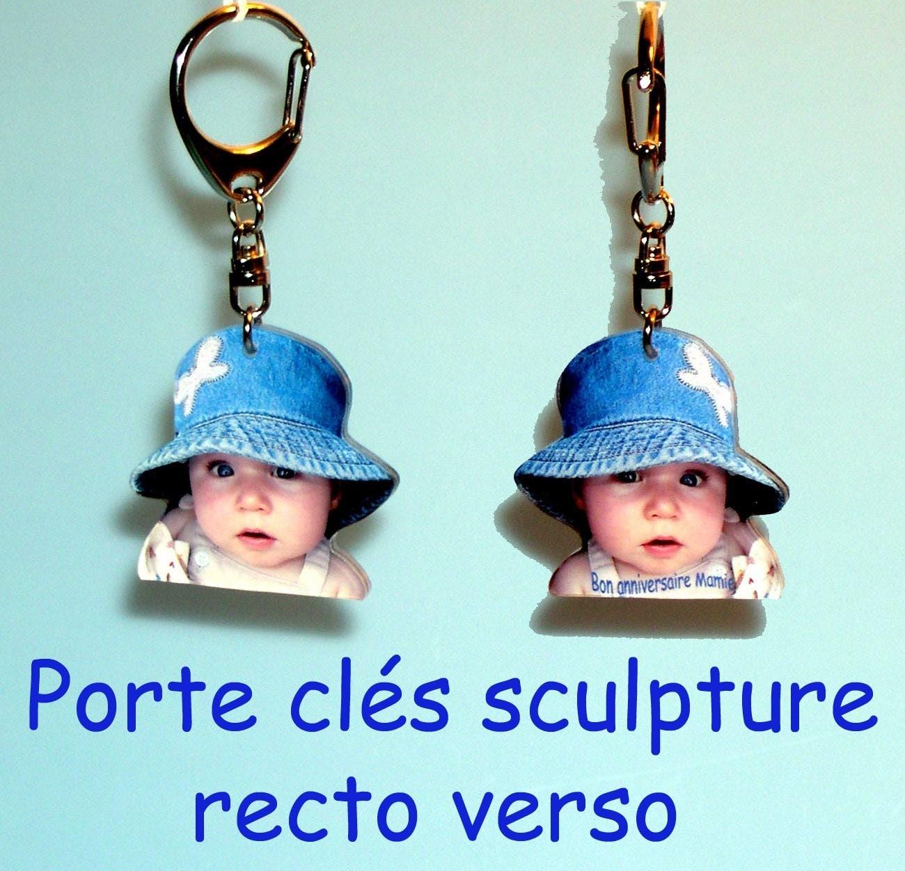 Porte cles sculpte recto verso avec 1 photo - Porte clef personnalise photo recto verso ...