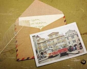 10 Mini Air Mail Envelopes