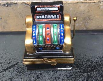 Vintage Slot Machine Trinket Box by Limoges