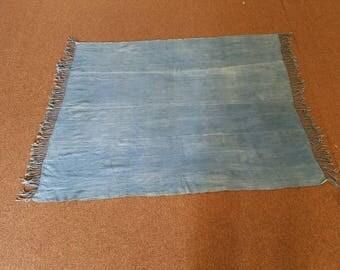 Plain Blue mosi indigo fabric