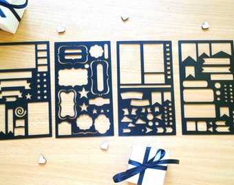 Set of 4 stencils, Bullet Journal Stencil, Bullet Journal Stencils Planner, Bullet Point Journal Stencil, A5 Planner stencil, happy planner