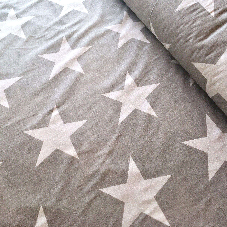 Big stars fabric star fabric white star fabric nautical for Star fabric australia