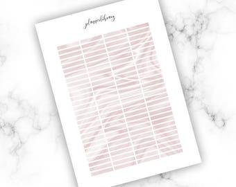 PINK MARBLE HEADERS // Printable / pink marble erin condren kikki k plum paper planner stickers valentines day love romantic blush february