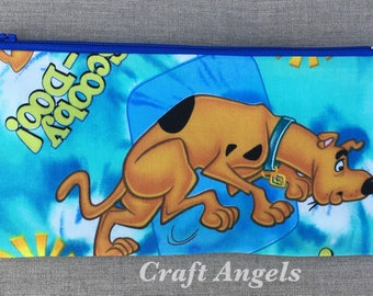 Character dog Zipper Pouch, Cosmetic Case, Personalized Pencil Case, Back To School /Gift For Her/ School Supplies.