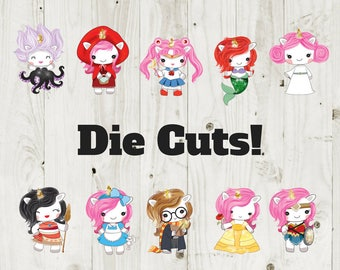 Die Cut Stickers Unicorn Cosplay/Halloween Die Cuts