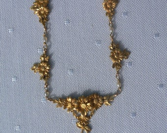 French 18carat Necklace with seed pearls