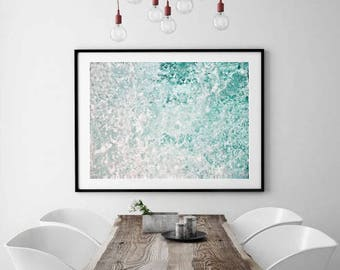 Abstract Ocean Photography, Blue Abstract Art, Modern Beach Decor, Ocean Print, Waves Photo, Nautical Decor, beach photo download