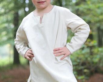 Burgschneider Childrens Medieval Viking Larp 100% Cotton Undertunic Leifsson
