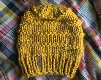 READY TO SHIP: Slone Beanie // Mustard