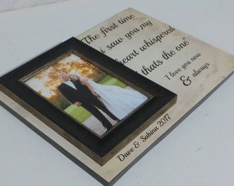 Custom wedding gift,Gifts For The Couple,wedding gift picture frame,personalized frame,anniversary gift custom wedding gift